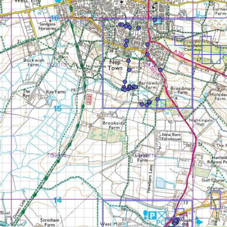 Map of the south of Henfield